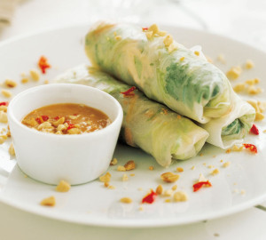 Chicken & Mint Salad Rolls