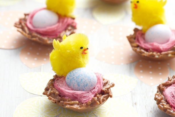Individual Easter Chocolate Nests.   Image www.taste.com.au. Photography by Chris L Jones