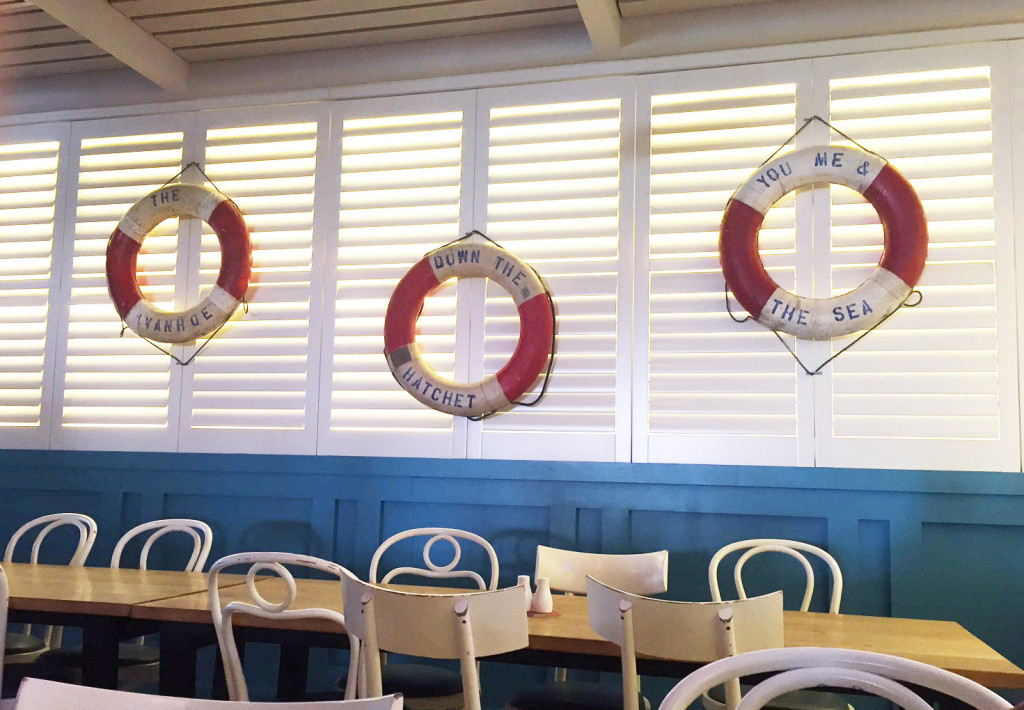 Life rings hanging along the wall of the Ivanhoe Hotel. Image – Sea Sydney Harbour