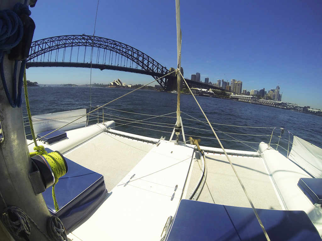 The bow area aboard The Kirralee. Image - Sea Sydney Harbour